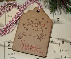 Christmas Gift Tags - Reindeer - Season's Greetings