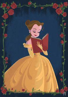 Disney Princess´s Belle Fanart Illustrations on Behance Disney Nerd, Disney Fan Art, Disney Love, Disney Pixar, Art Inspiration Drawing, Princess Drawings, Disney Beauty And The Beast, Cartoon Wallpaper, Disney Inspired