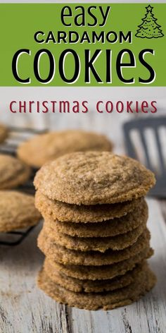 Looking for a traditonal Christmas cookie recipes? Make these cardamom cookies which are traditional Scandinavian cookies. Crisp and tasty they are a delicious homemade cookie the entire family will love. Flavored with cinnamon and cardamom they make the entire house smell amazing! CLick to get a free printable recipe for these excellent holiday cookies! Roll Cookies, Yummy Cookies, Cookie Bars, Cardamon Cookies, Refrigerator Cookies, Tasty, Yummy Food, How To Make Cookies, Printable Recipe