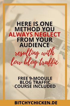 """Here is one method you always neglect from your audience, resulting with low blog traffic. In this post, I've shared how you can change one mediocre habit you're always doing when blogging for your audience. Now, you're wondering why you always have low blog traffic. You're always frustrated why you only have an average 20 blog views per day. Whenever you look at your Google Analytics dashboard, you always feel dismayed. You often ask yourself """"What else should I do to increase this damn…"""