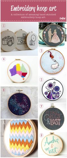 Crafted: Embroidery art awesomeness