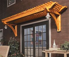 eyebrow pergola plan  above the garage doors?
