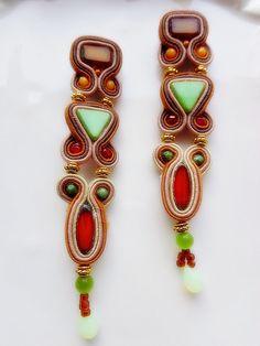 Soutache earrings fall winter trend mustard