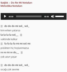 Sağlık - Do Re Mi #doremi #melodika #org #flüt Do Re Mi