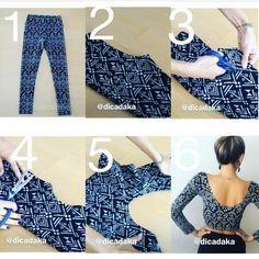 Como hacer croptops con tus calzas