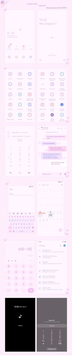 Galaxy Theme, Pastel Pink, Wallpapers, App, Wallpaper, Apps