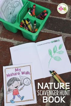 Use these free printable nature scavenger hunt books to encourage kids to write, draw, and read while exploring their world. Perfect for pre-k, preschool or kindergarten age kids. Use on the playgroun (Camping Hacks For Girls) Summer Camp Themes, Camping Activities For Kids, Nature Activities, Camping Crafts, Preschool Camping Activities, Summer Themes For Preschool, Preschool Learning, Science Activities, Summer Activities