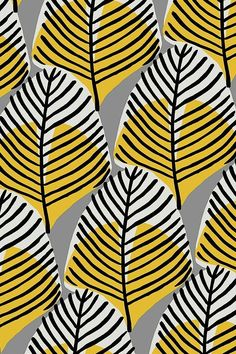 Fondos de Pantalla Surface Pattern Design, Pattern Art, Yellow Pattern, Graphic Patterns, Print Patterns, Textile Design, Design Art, Motif Tropical, Art Watercolor