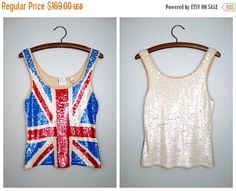 2-DAY FINAL SALE Vintage All Sequin Tank Top // Rare by braxae