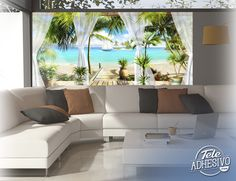 Fotomurales: Paraíso frente al mar #fotomural #mural #pared #decoracion #deco #TeleAdhesivo