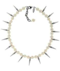 JOOMI LIM Pre Expression Choker with Small Pearls & Short Spikes #Necklace #accessories