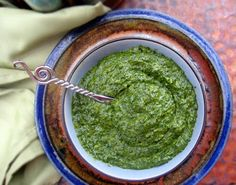 How to make a vegan pesto.