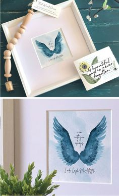 Watercolor Ideas, Watercolor Painting, Watercolors, Memorial Ornaments, Memorial Gifts, Christmas Party Decorations, Diy Christmas Gifts, Acrylic Painting Tutorials, Palmistry