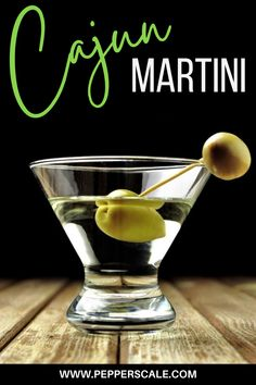 Cajun martini recipes come in all sorts of flavors. Some are simply traditional martinis with a jalapeño garnish, but others – like our recipe below – step it up with pepper-infused vodka and Tabasco-coated olives. Now that's the Cajun spice we know and love! #martini #cajun #cajunmartini #spicymartini #martinirecipe #cajunmartinirecipe #cocktail #martinicocktailrecipe Martini Recipes, Cocktail Recipes, Spring Cocktails, Easy Cocktails, Winter Drinks, Summer Drinks, Chipotle Recipes, Spicy Drinks