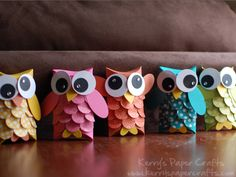 I love owls !! And it's easy to make
