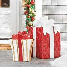 Present with Bow  $79.00 - $149.00 Write a review Be the first to write a review Be the first to ask a question.  Dazzle passersby, year after year, with our exclusive, all-weather Christmas Presents with Bows. Elaborate and realistic, each is crafted from high-quality ...