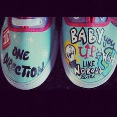 One Direction shoes❤ WMYB lyrics These would be amazing to have!