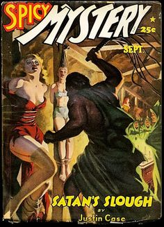ALLEN ANDERSON - art for Satan's Slough by Justin Case - Sept 1942 Spicy Mystery