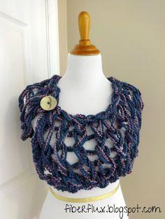 Free Knitting Pattern...Arm Knit Button Wrap