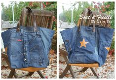 atelier bout d'ficelle - sac jean by Isa