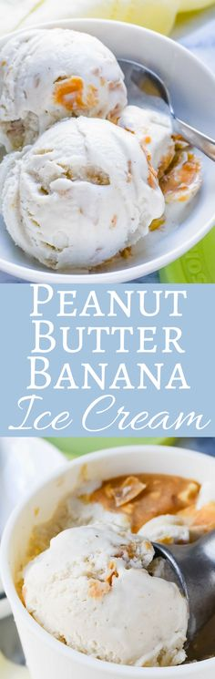 Want to know how to make the best Peanut Butter Banana Ice Cream? Start with this easy recipe, overripe bananas, & a delicious peanut butter sauce! via @GarlicandZest