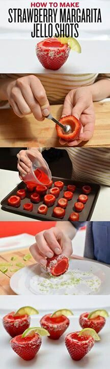 Strawberry margarita Jell-O shots... 1500th pin :) in memory of Owen (6/29/13)