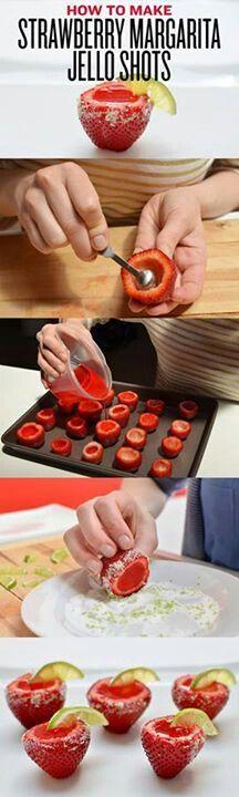 Strawberry margarita Jell-O shots... 1500th pin :) in memory of Owen (6/29/13)