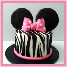 Zebra Pattern Cake | Caroline's Edible Creations