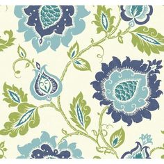 """Carey Lind Vibe Removable 27' x 27"""" Jaco Floral Wallpaper"""