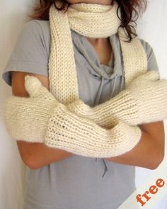 Free Knitting Patterns Hats Scarves Gloves : 1000+ images about Knitting Patterns - Mittens on Pinterest Mittens, Knitti...
