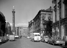 Grey Street, 1955  View looking up Grey Street towards Grey's Monument, Newcastle upon Tyne, October 1955. Tyne & Wear Archives presents a series of images taken by the Newcastle-based photographers Turners Ltd.