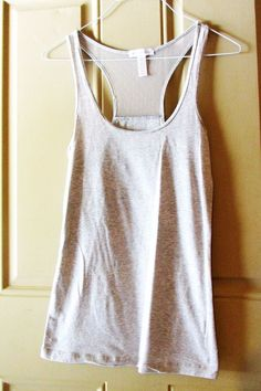 Ambiance Apparel Gray Racer Back Tank Shirt Size Small #AmbianceApparel #TankCami #Casual