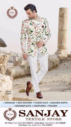 I don't design clothes. I design dreams !! #sanjay #textile #store #menswear #suits #best #showroom #in #jaipur #sherwani #kurta #designersuits #jackets #indowesterns #Designershirts #jodhpuries #trousers #tuxedosuits #blazer #wedding #dresses #groom #tailoring  Visit your nearest Sanjay Stores in Jaipur :- - Paanch Batti, M.I. Road 0141-4040741  - Opp. Sanghi Farm, Tonk Road 0141-2720731 - Dara Market, Johari Bazar 0141-2566487