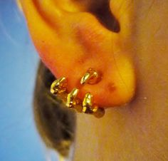 Fantasy dragon claw earrings gold silver asian bird by GeekFlux