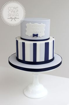 25+ Brilliant Picture of Male Birthday Cakes . Male Birthday Cakes Blue And Navy Stripe Male Birthday Cake Cakes In 2018 Pinterest