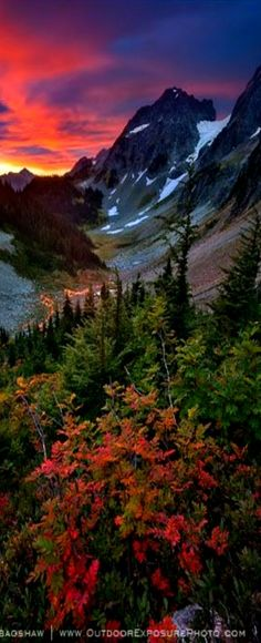 Sunrise at North Cascades National Park, Washington