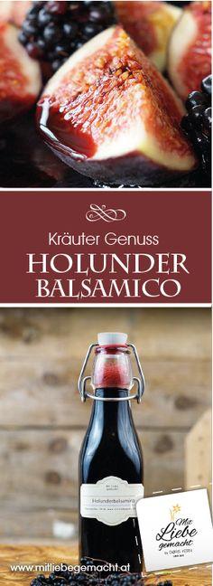 Ein Genuss nach dem man süchtig wird - der Holunderbalsamico ist einfach ein Traum! #holunder #balsamico #mitliebegemacht