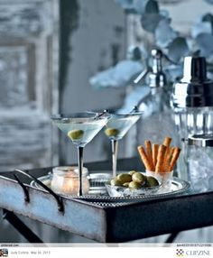 Dating Miss Millionairess | Cocktails forTwo | French Blue bar cart and accessories | ~LadyLuxury~