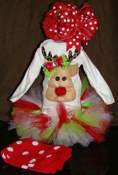 Christmas onesie outfit. $69.95, via Etsy.