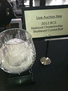 Alabama's shattered BCS crystal ball trophy fetches more than $100,000 at auction | Dr. Saturday - Yahoo! Sports