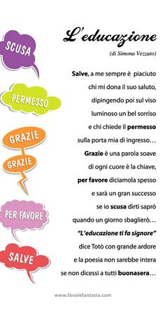 Learning Italian Through Vocabulary Italian Grammar, Italian Vocabulary, Italian Phrases, Italian Language, Everyday Italian, Learning Italian, Reading Material, Primary School, Kids Education