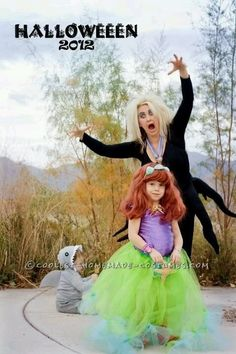 Easy, Cheap and Amazing Little Mermaid Family Costume ... This website is the Pinterest of costumes