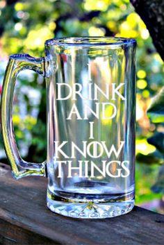 Game of Thrones Beer Mug Gift #Gameofthrones #Gift #Idrinkandiknowthings