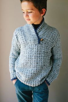 Ideas For Knitting Patterns Boys Sweaters Yarns Boys Knitting Patterns Free, Jumper Knitting Pattern, Jumper Patterns, Knitting For Kids, Knitting Designs, Free Knitting, Crochet Boys Sweater Pattern Free, Vintage Knitting, Crochet For Boys