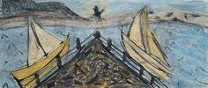 Île de Grand-Manan_Dark Harbour_525_pastels Rembrandt Dark Harbor, Little Island, Rembrandt, Pastels, Painting, Art, Art Background, Painting Art, Paintings