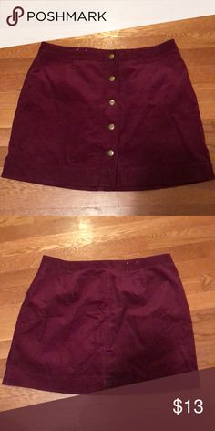 Old Navy corduroy Skirt Worn once perfect condition! Burgundy Old Navy Skirts Mini