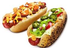 D'Lish Grilled Hot Dogs with Guacamole, Jalapenos ... more!