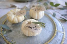 Mini Pumpkin Place Cards — Hosting with Chels
