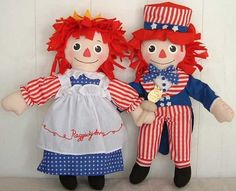 Raggedy Ann Statue of Liberty & Raggedy Andy Uncle Sam