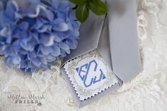 Groom's Tie Tag ~ Rayna Frame and Diamond Monogram Groom Ties, Custom Embroidery, Monogram Letters, Bridal Accessories, No Frills, Lettering, Diamond, Frame, Handmade